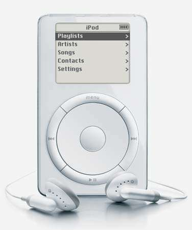 2001 Apple released its first iPod, taking the MP3 player mainstream in 2001. The iPod made digital music significantly more popular.