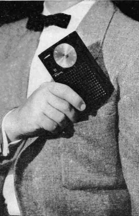 1954 In 1954, the first transistor radio allowed listeners to take music with them, as the radio was now small and portable.