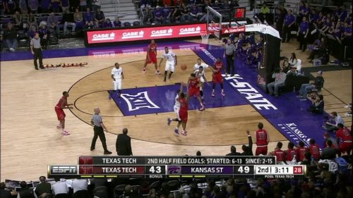 2H TTU R. Turner made Three Point Jumper. Assisted by D. Williams.