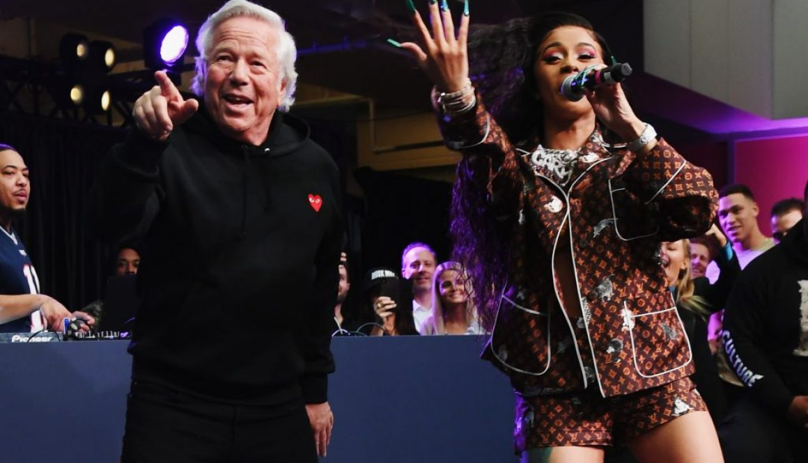 Cardi B Dances on Stage With Patriots Owner During Super Bowl Party