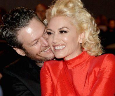 Blake Shelton Smooches Gwen Stefani Album Cover While On the Road: Watch