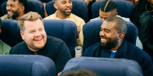 "Watch Kanye West and James Corden Do ""Carpool Karaoke"" in an Airplane"