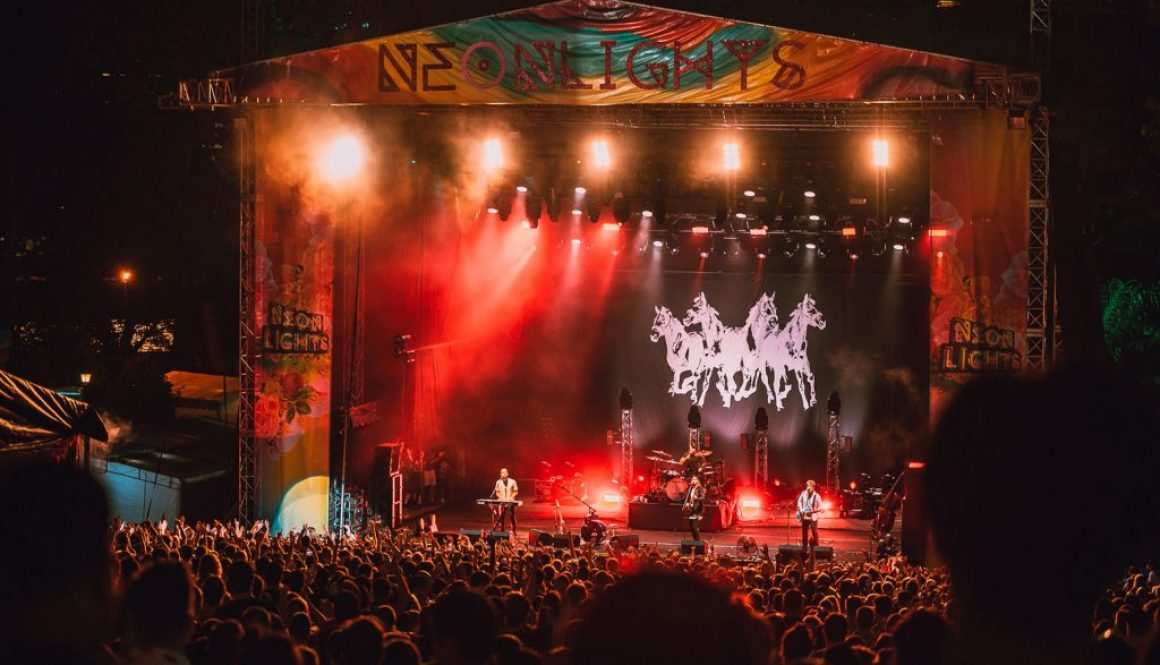 Neon Lights Glows as Mumford & Sons, King Gizzard & More Hit a Wet Singapore