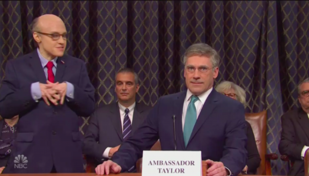 'Saturday Night Live' Turns the Impeachment Hearings into a Soap Opera (Watch)