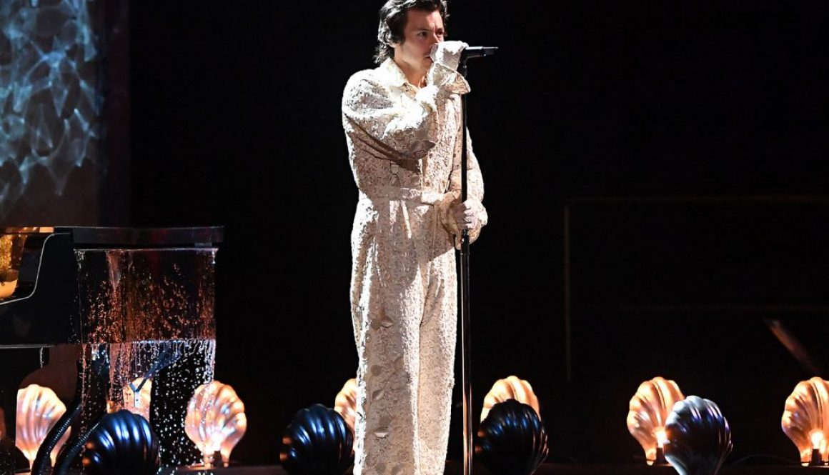 Harry Styles Lets the Music Flow With 'Falling' at 2020 Brit Awards