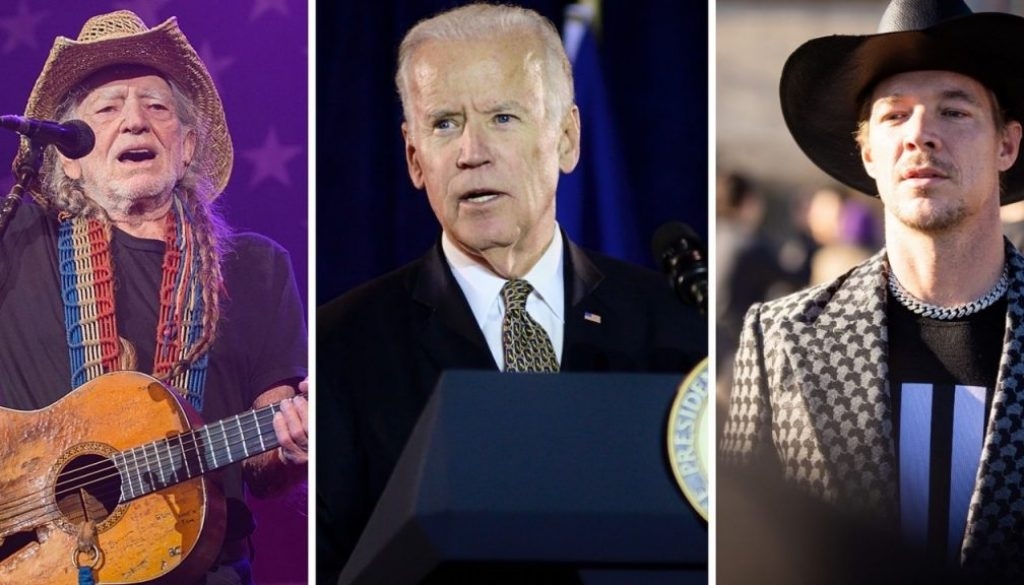 Willie Nelson and Diplo to Perform at Virtual Joe Biden Fundraisers