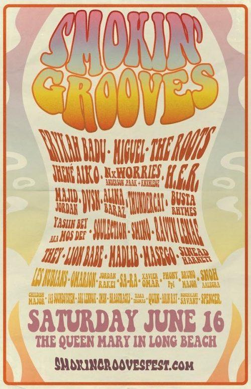 Smokin' Grooves Fest 2018 Lineup: Erykah Badu, Miguel, the Roots, More