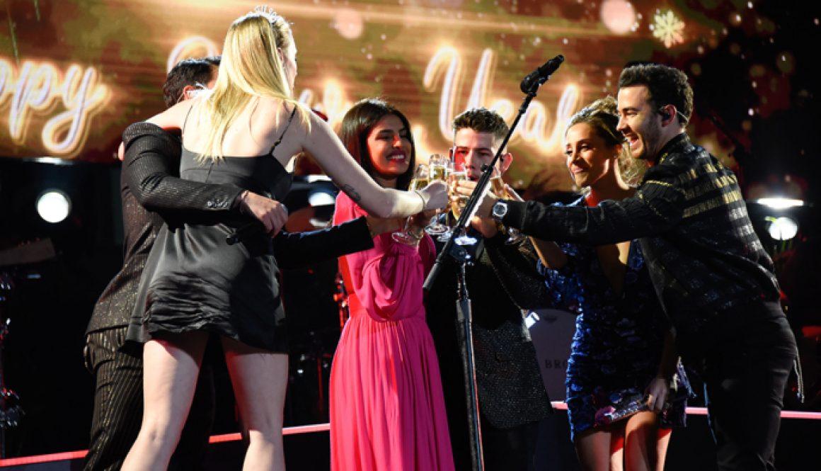 Jonas Brothers Ring in 2020 with Priyanka Chopra and Sophie Turner