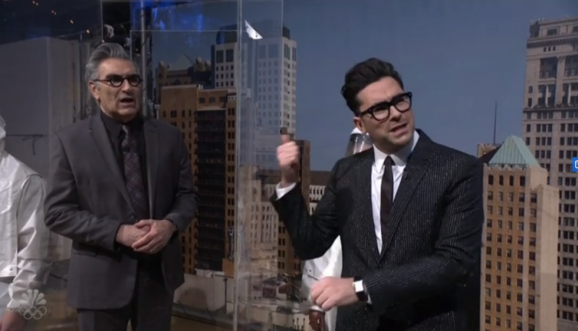 Eugene Levy Joins Daniel Levy's 'Saturday Night Live' Monologue