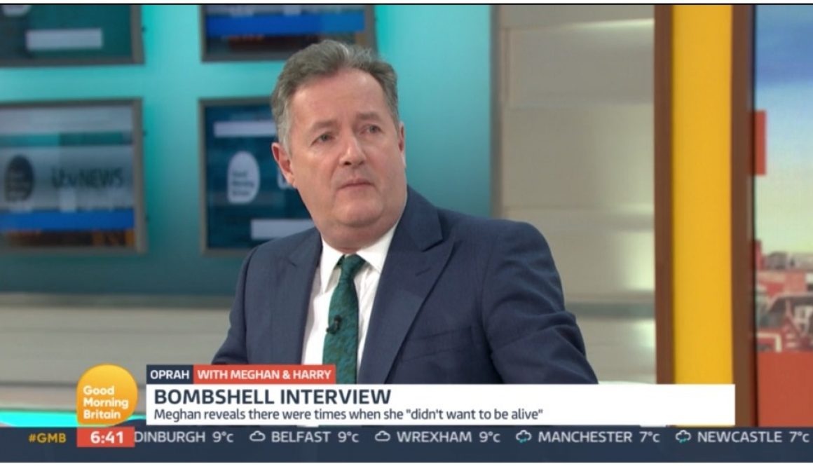 ITV Chief Believes Meghan Markle's Mental Health Statement, Programming Head Talking to Piers Morgan