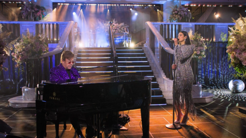 Dua Lipa Duets With Elton & More Highlights From Virtual Elton John Oscar Viewing Party