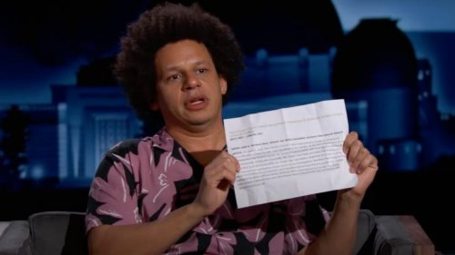 Eric André Discusses Being Racially Profiled in Atlanta on Kimmel