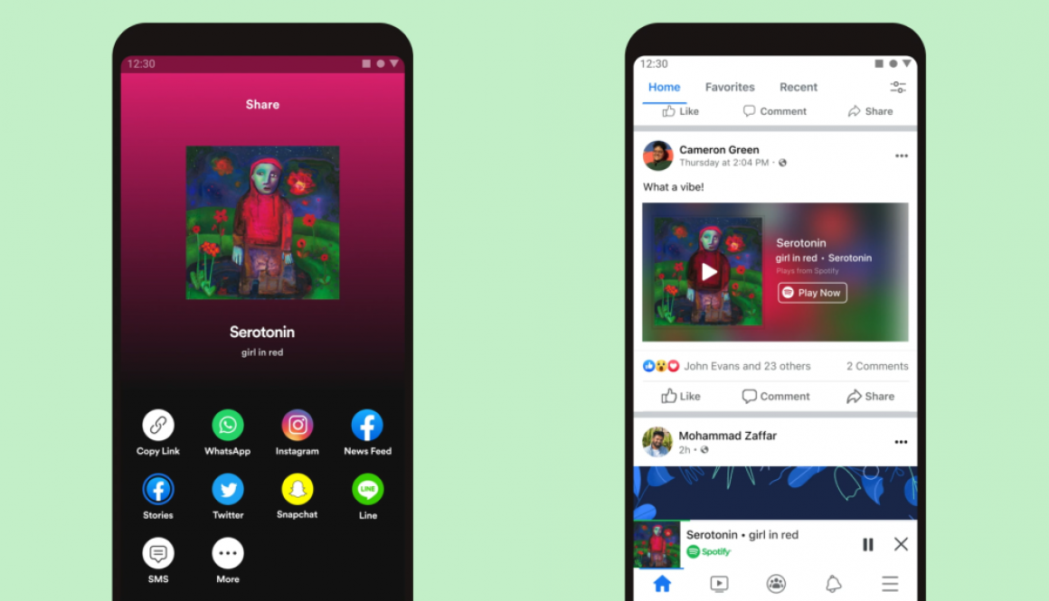 You Can Now Play Spotify Directly in Facebook's Mobile App