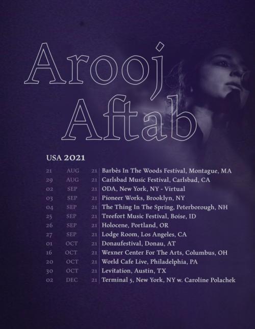 Arooj Aftab Announces U.S