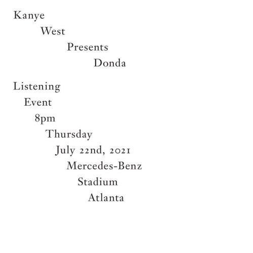 Kanye West Hosting Listening Event for New Album Donda This Week