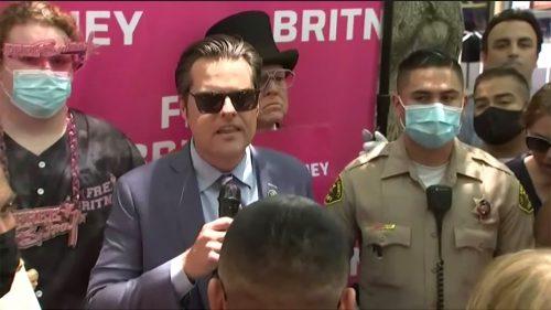 Matt Gaetz Speaks at 'Free Britney' Rally, Decrying 'Grifters' and Urging Federal Legislation for Conservatorships